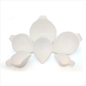 6PC BOWL SET, 1-2-4-6-8-12 CUP (WHITE)