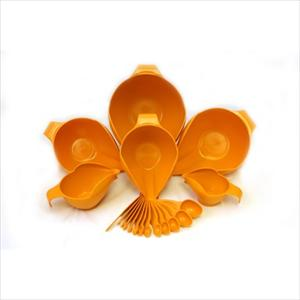 18PC BOWL &amp; MEASURING SET (TANGERINE)