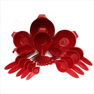 27PC BOWL & MEASURING SET (EMPIRE RED)