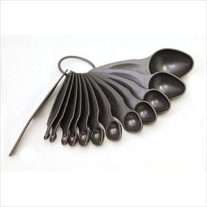 MEASURING SPOON SET 12 PC (DARK PEWTER)