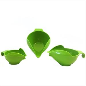 3PC BOWL SET, 1-2-4 CUP (GREEN APPLE)