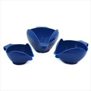 3PC BOWL SET, 1-2-4 CUP (BLUE WILLOW)