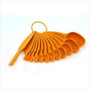 MEASURING SPOON SET 12 PC (TANGERINE)