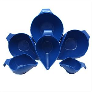 6PC BOWL SET, 1-2-4-6-8-12 CUP (BLUE WILLOW)
