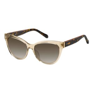 Ladies Plastic Full Frame Sunglasses - (Crystal Beige)