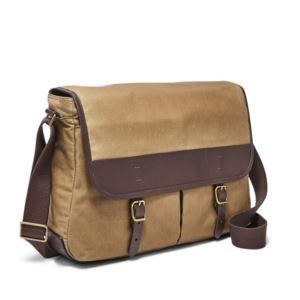 Mens Buckner Messenger Bag - (Canvas Brown)