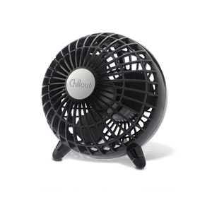 Chillout USB/AC Personal Fan Black