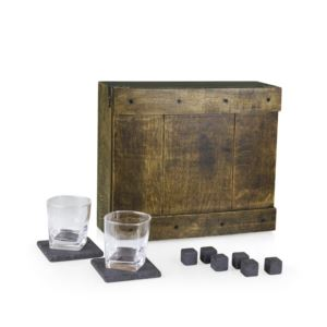Whiskey Box Gift Set in Oak