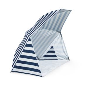 Oniva Brolly Beach Umbrella Tent Blue/White Stripes