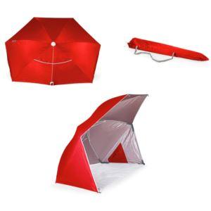 Oniva Brolly Beach Umbrella Tent Red