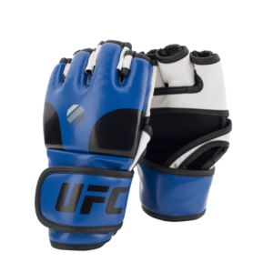 UFC Open Palm MMA Training Gloves - Blue/Black/White S/M