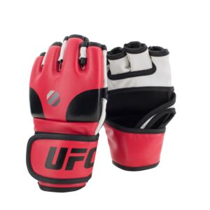 UFC Open Palm MMA Training Gloves - Red/Black/White S/M