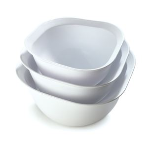 Cuisipro Mixing Bowls, Set of 3 - White