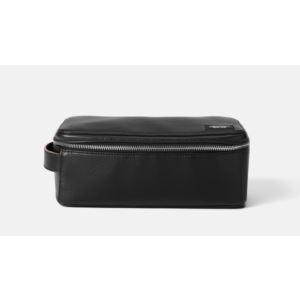 Mason Leather Zipper Top Dopp - Black