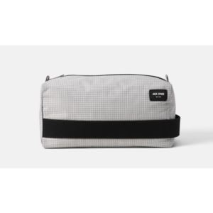 Packable Graph Check Toiletry Kit - Grey