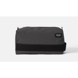Packable Graph Check Toiletry Kit - Black