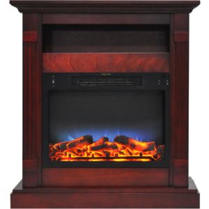 Sienna 34 In. Electric Fireplace w/ Multi-Color LED Insert and Cherry Mantel