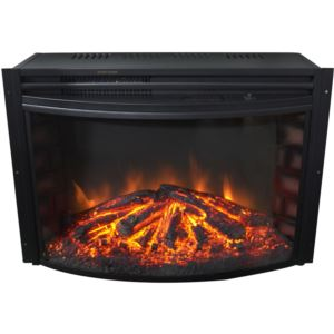 25-In. Freestanding 5116 BTU Electric Curved Fireplace Insert with Remote Control