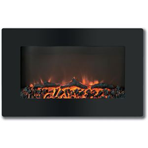 Callisto 30 In. Wall-Mount Electric Fireplace with Flat-Panel and Realistic Logs