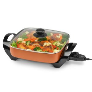 "11"" Electric Skillet Copper"