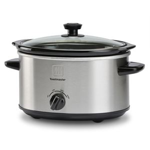 4 Qt Brushed Stainless Steel Slow Cooker