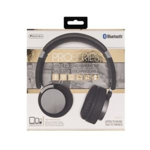 Bluetooth Pro Series Folding Headphones - (Silver and Black)