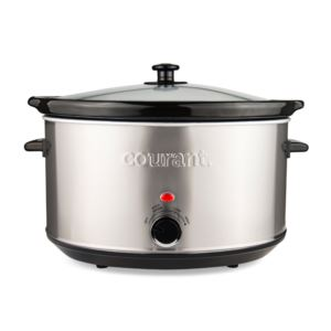 8.5 Quart Oval Slow Cooker, Stainless Steel