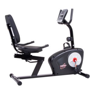 Body Champ Recumbent Exercise Bike w/ Heart Rate Sensors