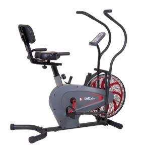 Body Rider Stationary Upright Fan Bike w/ Curve-Crank