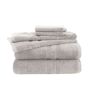6 - Piece Towel Set - (Light Gray)