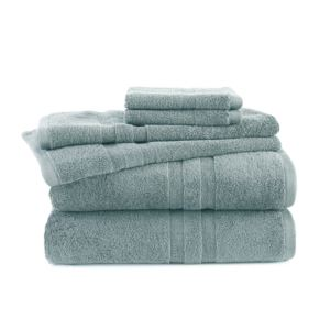 6 - Piece Towel Set - (Mineral)
