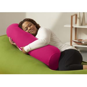 Buddy Roll Portable Body Pillow w/ Pink Cover