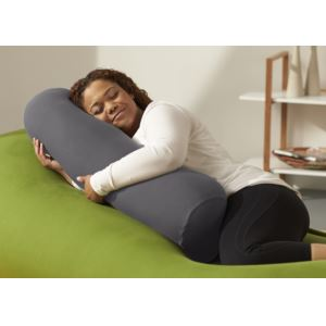 Buddy Roll Portable Body Pillow w/ Dark Gray Cover