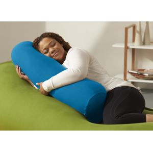 Buddy Roll Portable Body Pillow w/ Turquoise Cover