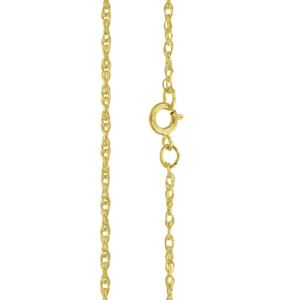 "PARIKHS 18"" Rope Chain Necklace (6R) in 14K Yellow gold."