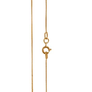 "PARIKHS 18"" Box chain Necklace (Mini) in 10K Rose gold."