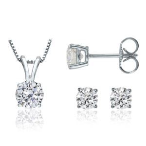 Certified PARIKHS Round Prime Diamond Set 14K White Gold 0.60ct IJK Color, I1 Clarity