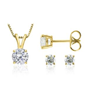 Certified PARIKHS Round Prime Diamond Set 14K Yellow Gold 0.60ct IJK Color, I1 Clarity