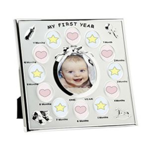 Baby First Year Silver Picture Frame