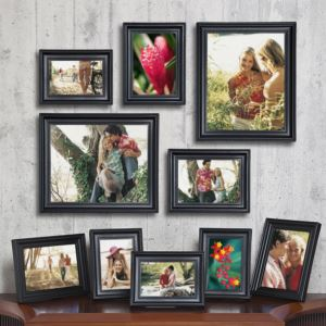 Wooden Picture Frame Set - (10 Piece)