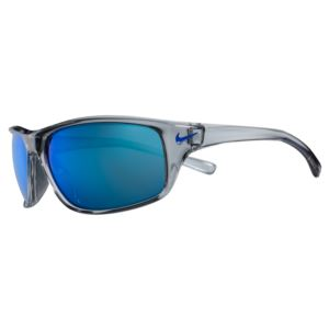 Adrenaline-Wolf Grey with Blue Mirror lens with Blue Swoosh