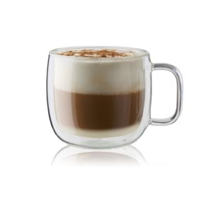 Sorrento Plus 2-Piece Double Wall Glass Cappuccino Mug Set