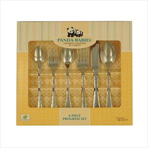 6Pc Stainless Child's Progress Flatware Set