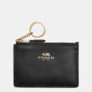 Mini Skinny Leather Wallet - Black