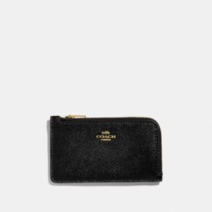 Small L Zip Card Case - Black