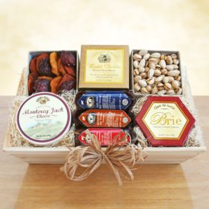 California Delicious Meat & Cheese-Wooden Gift Crate-Good