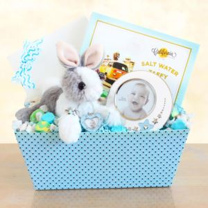 Welcome Baby Bunny & Picture Frame Gift Set Boy