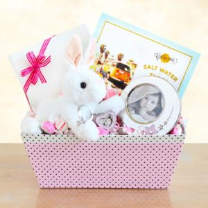 Welcome Baby Bunny & Picture Frame Gift Set Girl