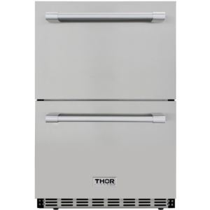 "24"" 5.3 cu. ft. Double Drawer Under Counter Refrigerator"
