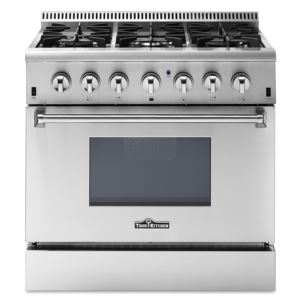 "36"" Professional 6 Burner Dual Fuel Range-Stainless Steel"